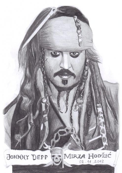 Johnny Depp par Mirza